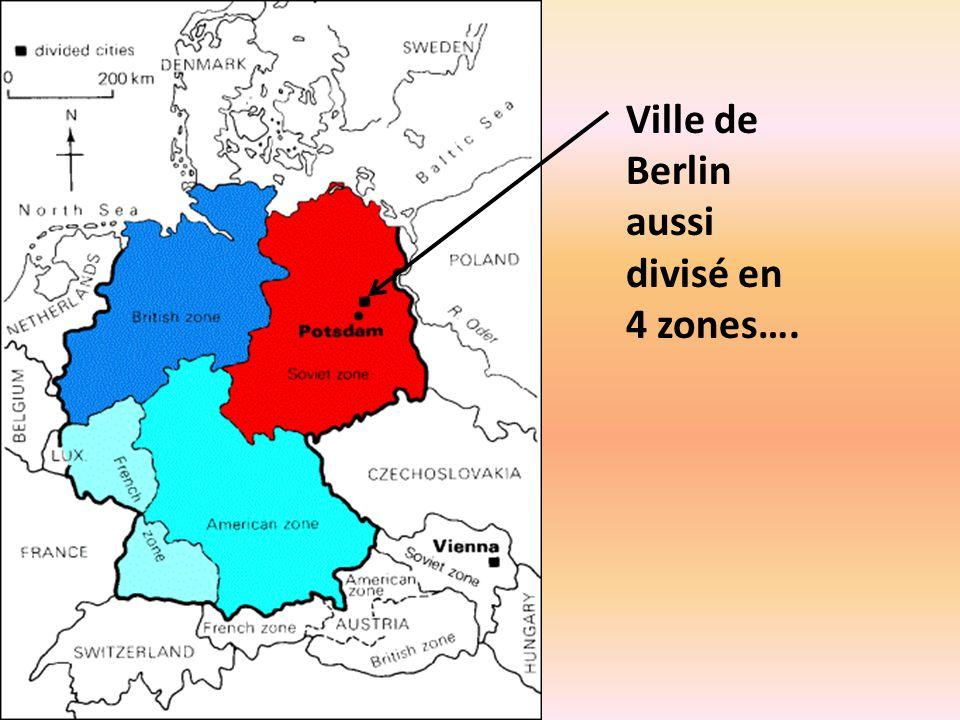 Carte Allemagne Divisee.Les Conferences A Yalta Et Potsdam Ppt Telecharger