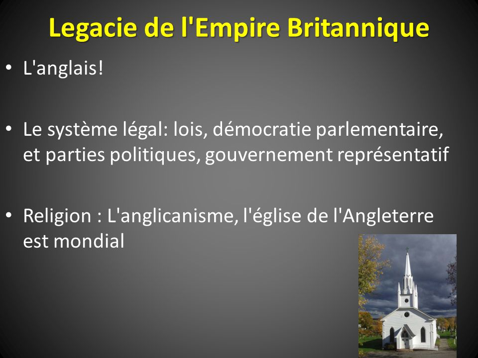 Legacie de l Empire Britannique