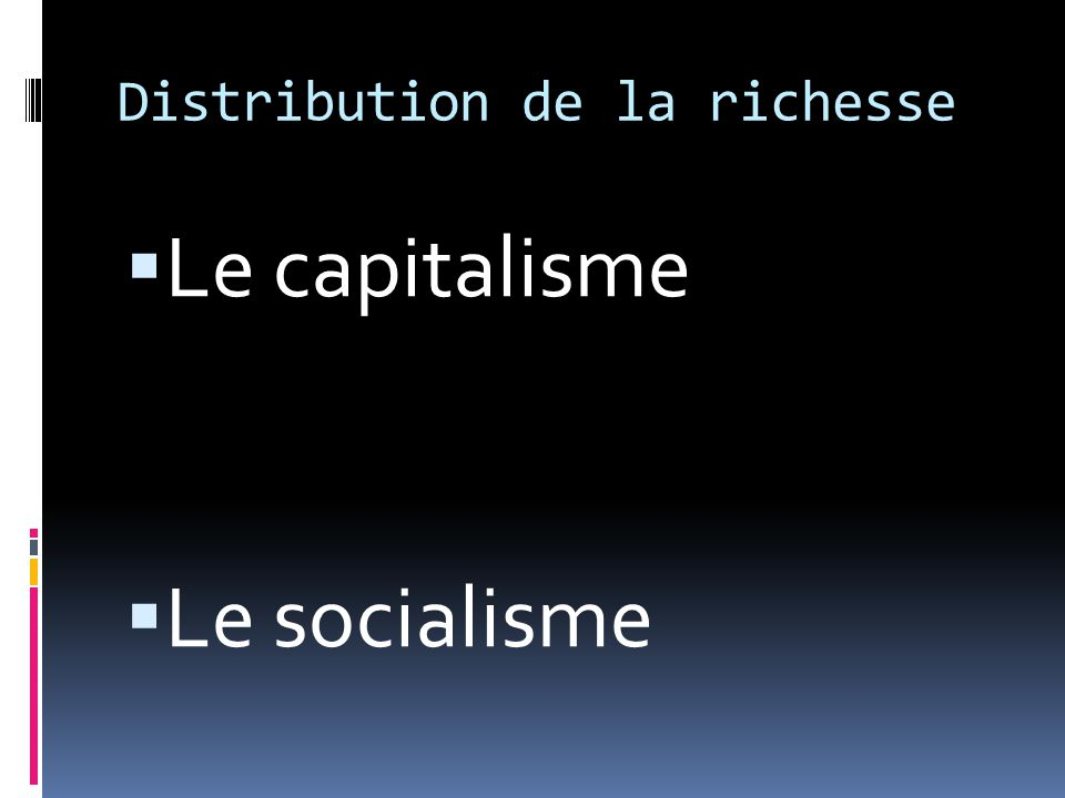 Distribution de la richesse