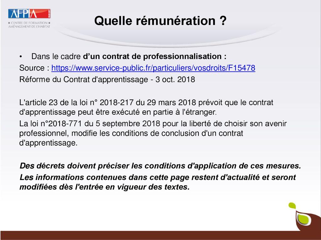 Remuneration Contrats Alternance Ppt Telecharger
