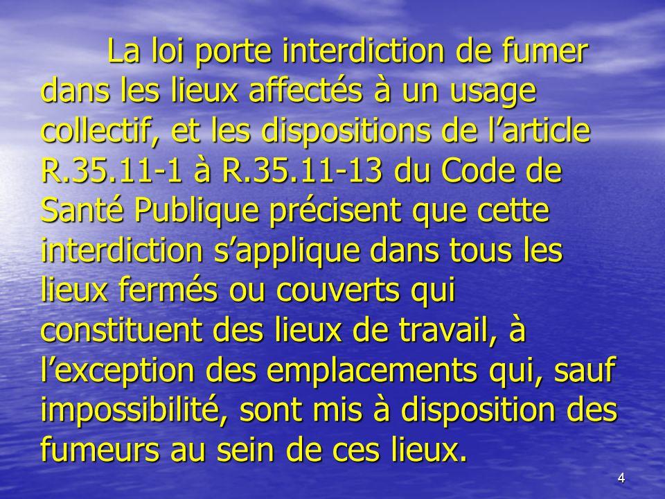 Integration Du Controle Du Tabagisme Dans La Gestion De La Qualite