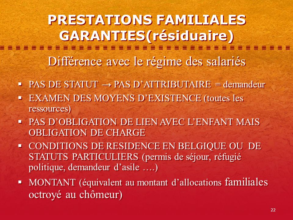Reglementation Des Allocations Familiales Aspects Theoriques Ppt