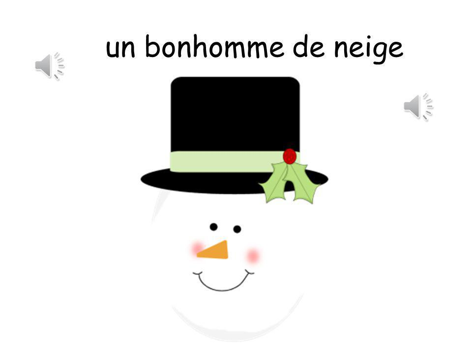 un bonhomme de neige The sound is actually a snowball!