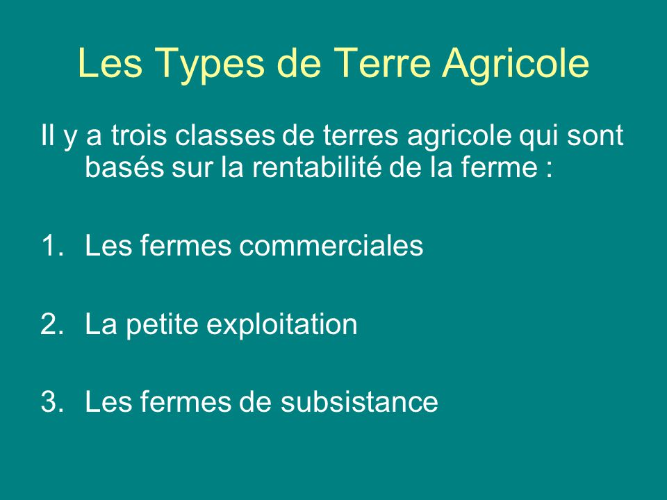 bases terres agricoles