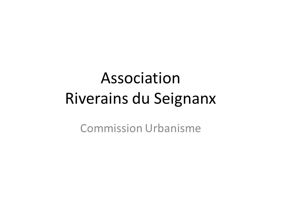 Association Riverains du Seignanx