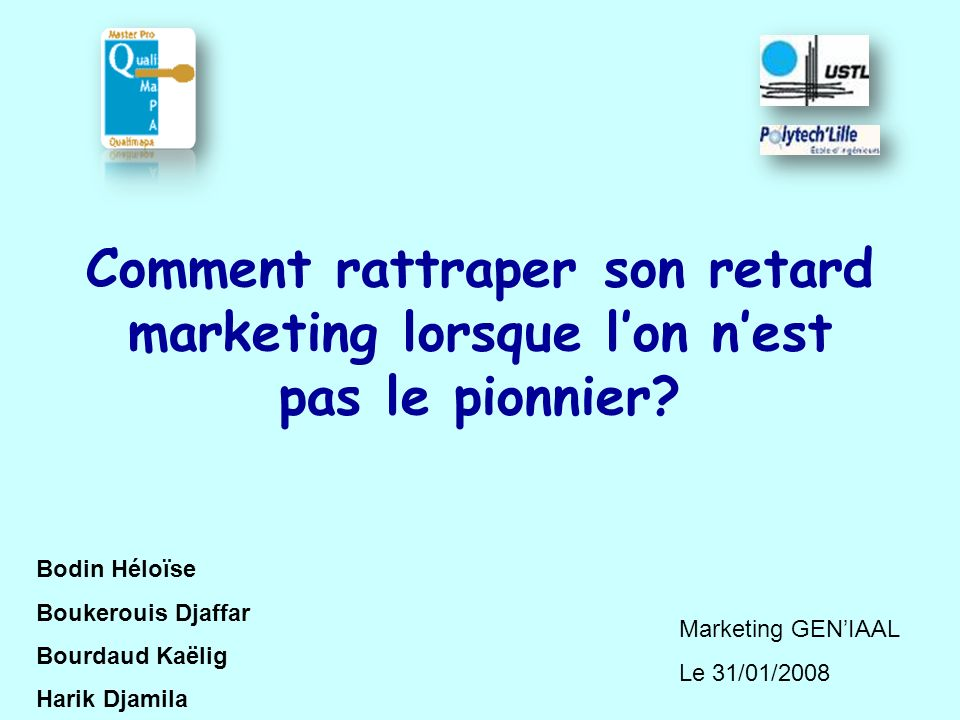 Comment rattraper son retard marketing lorsque l'on n'est pas le pionnier