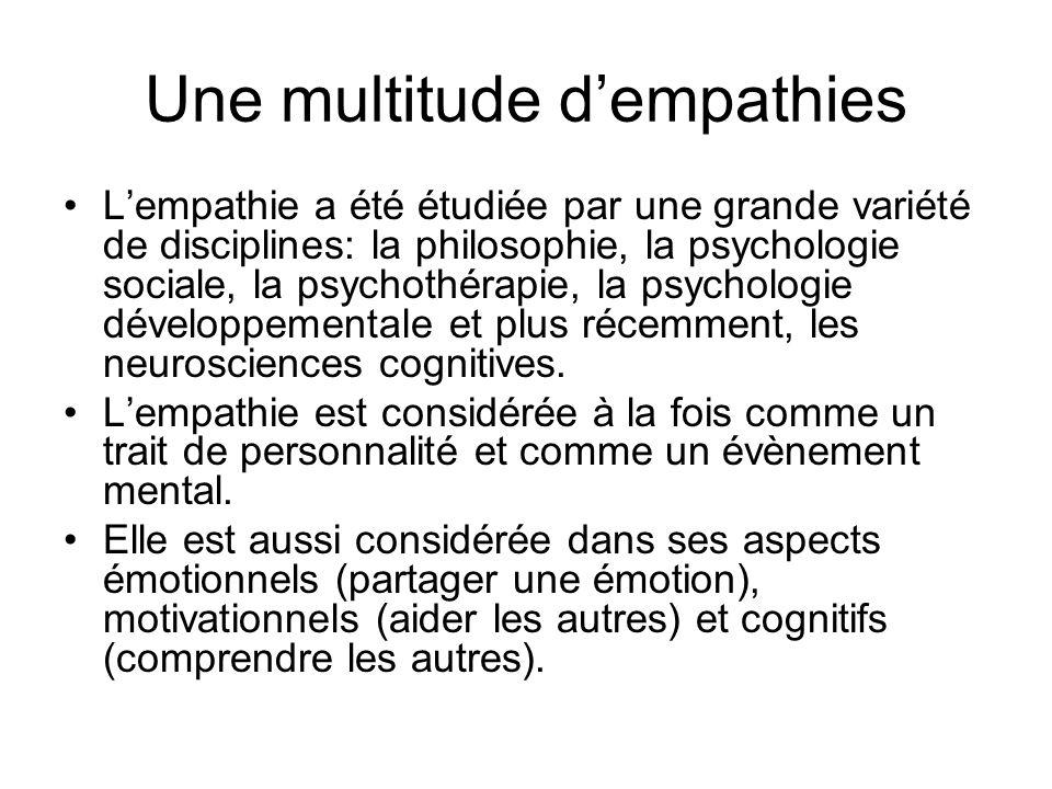 empathie definition psychologie