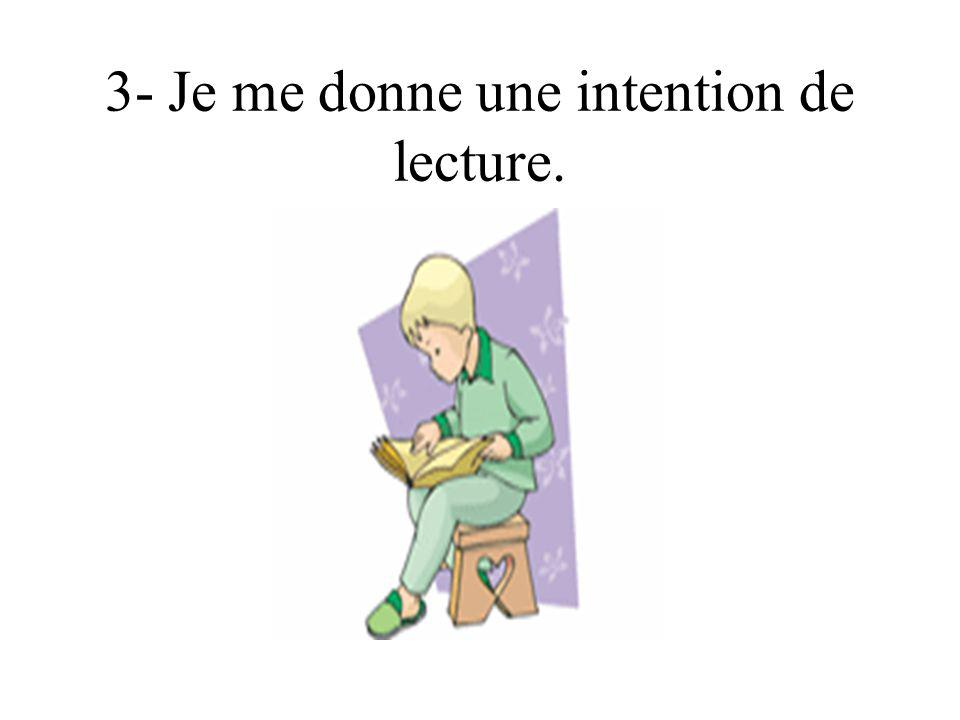 3- Je me donne une intention de lecture.