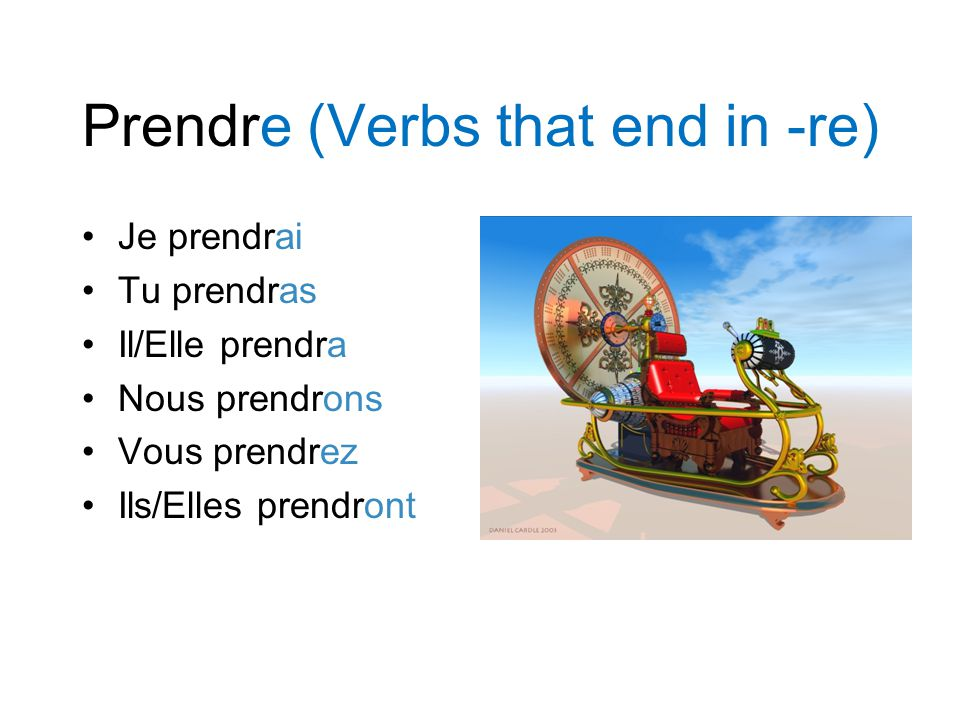 Prendre (Verbs that end in -re)