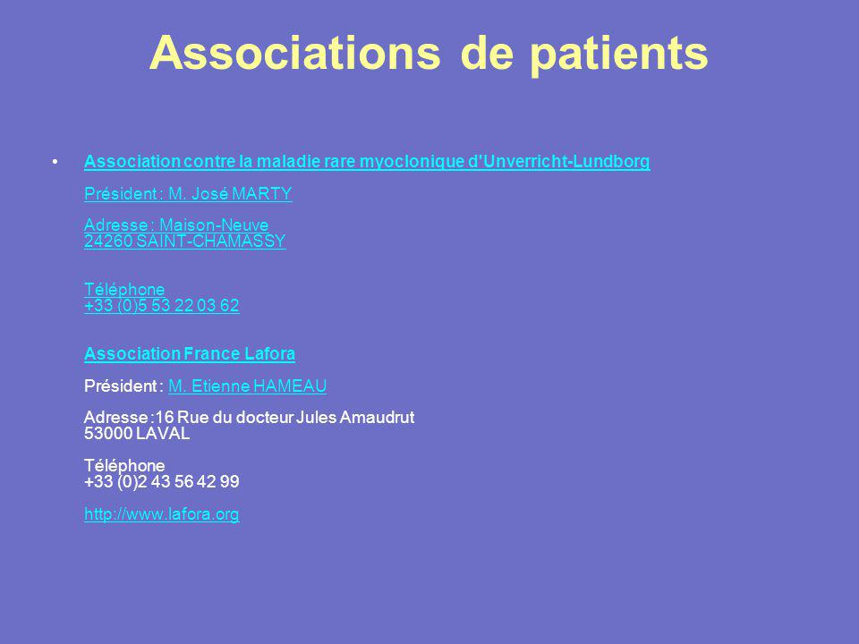 Associations de patients
