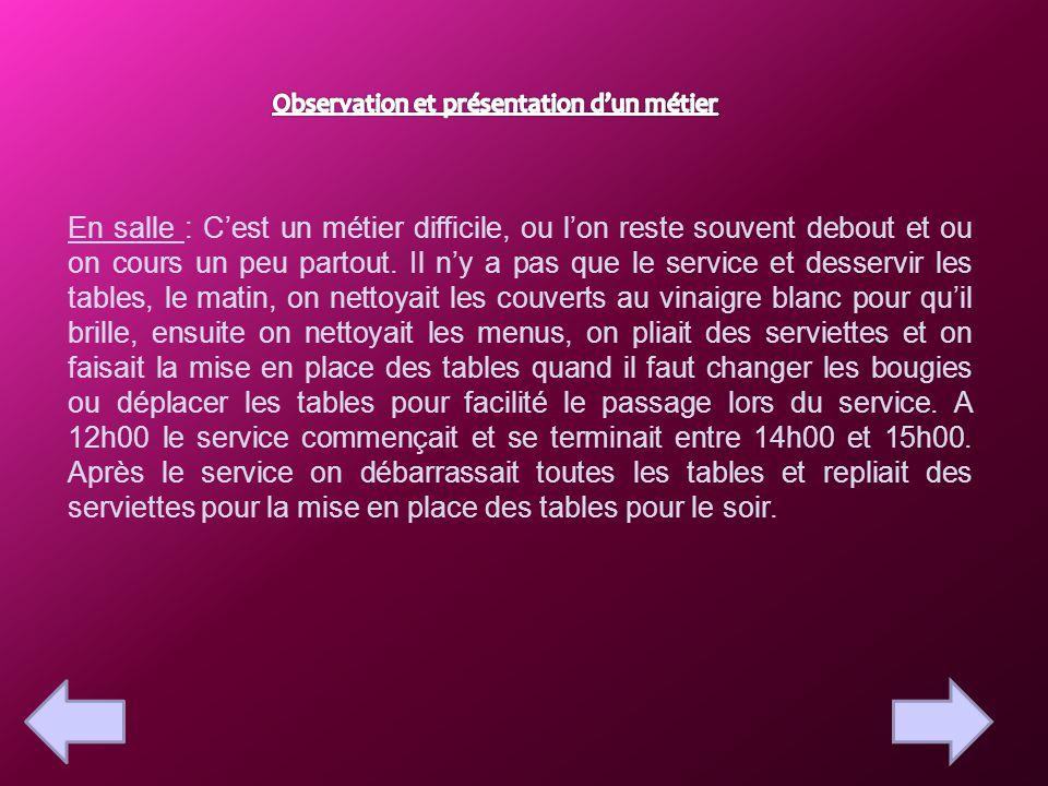 Restaurant Le Chalet Rapport De Stage De Gayette Alena 3eme 5 Ppt