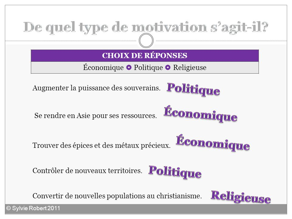 De quel type de motivation s'agit-il