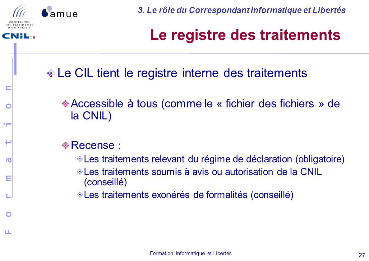 registre des traitements cnil