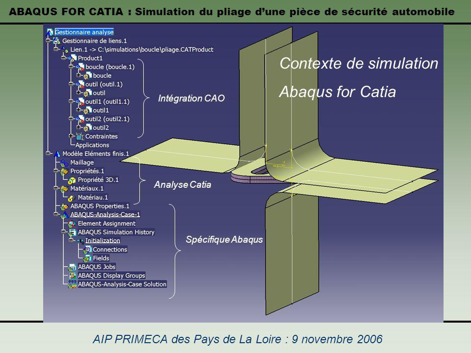 Contexte de simulation Abaqus for Catia