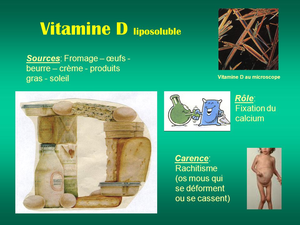 Vitamine D liposoluble