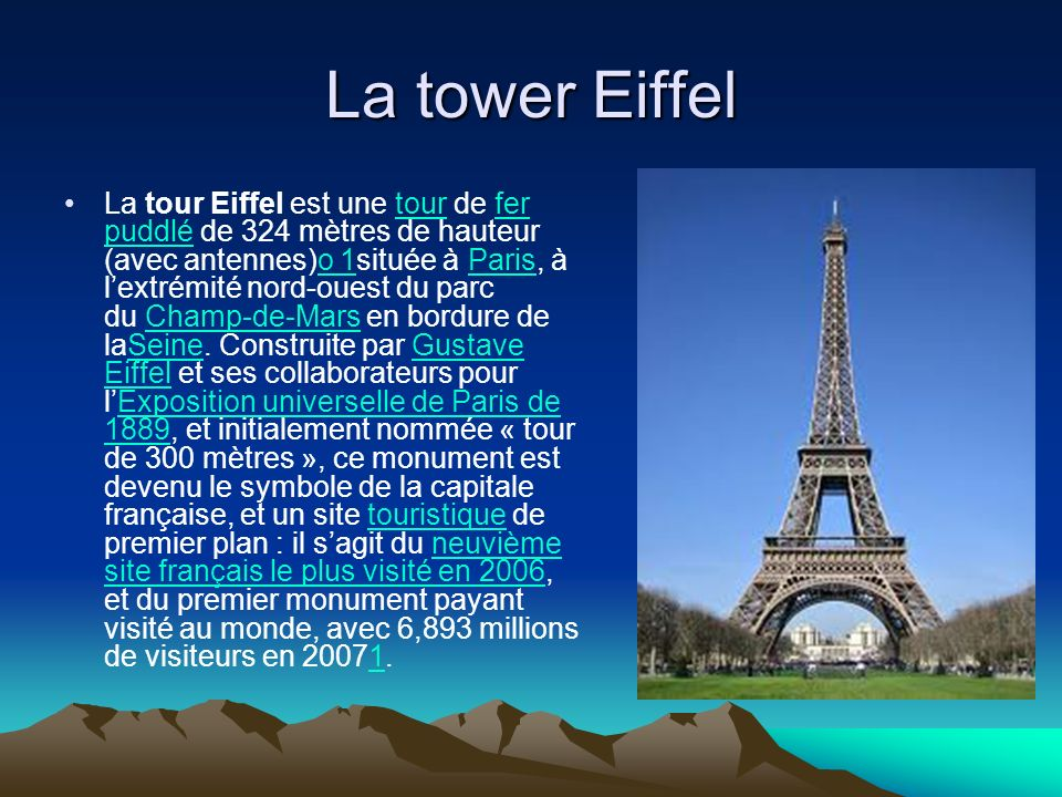 La tower Eiffel