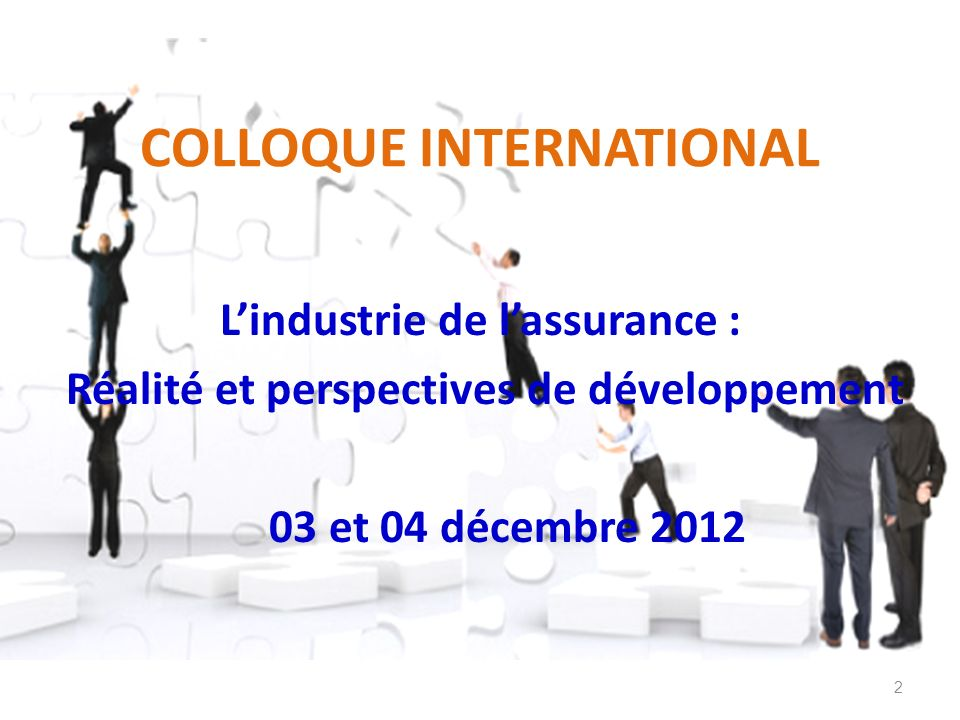 COLLOQUE INTERNATIONAL