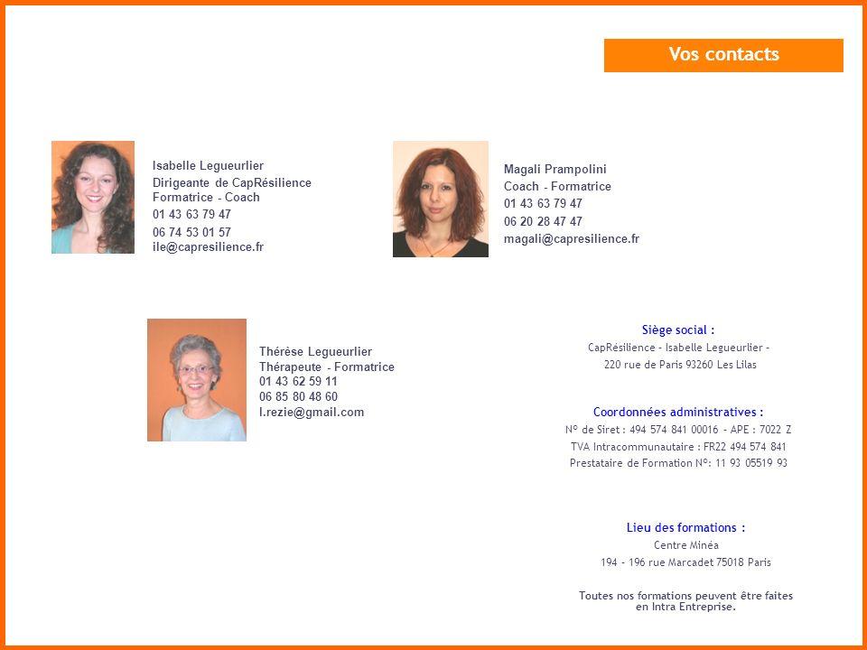 Vos contacts Isabelle Legueurlier