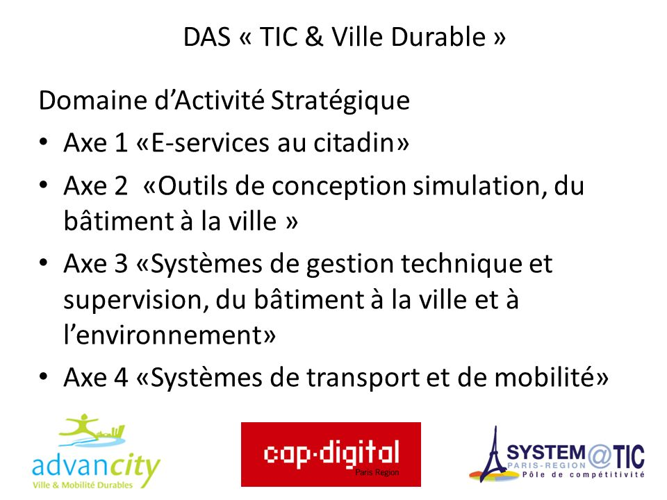 DAS « TIC & Ville Durable »