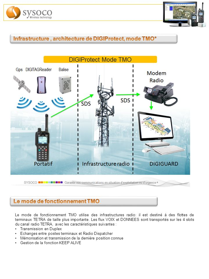 Infrastructure , architecture de DIGIProtect, mode TMO*