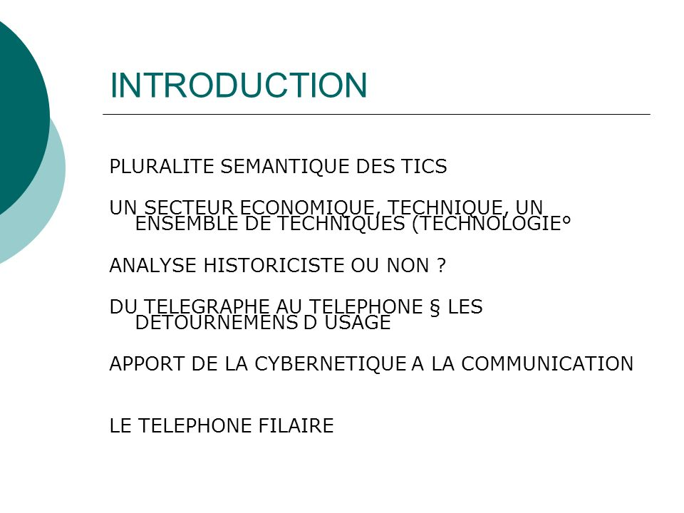 INTRODUCTION PLURALITE SEMANTIQUE DES TICS