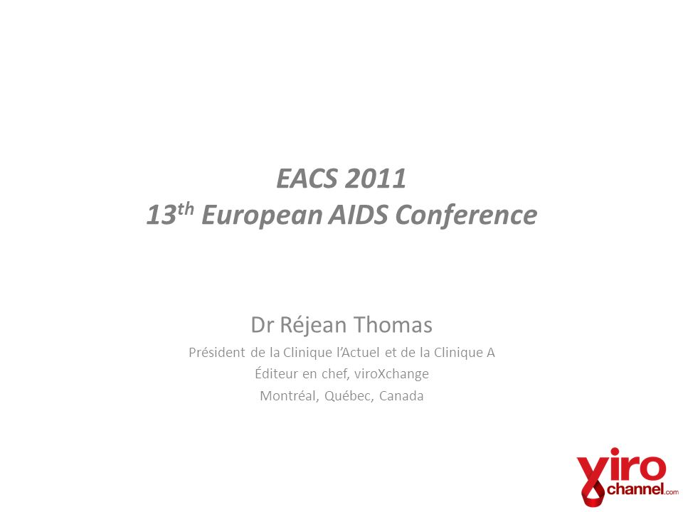 EACS 2011 13th European AIDS Conference