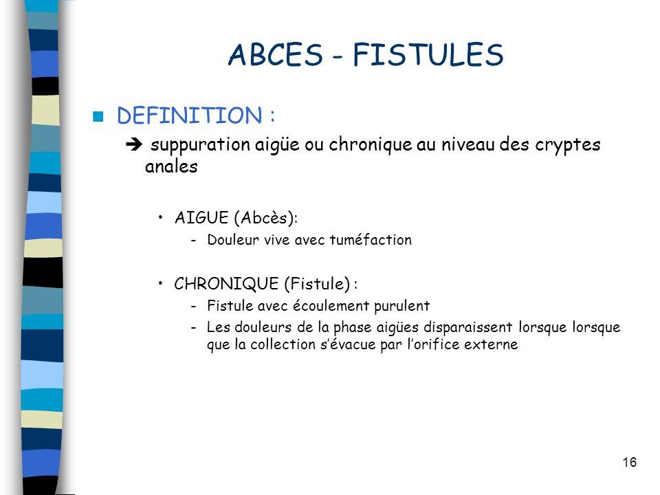 ABCES - FISTULES DEFINITION :
