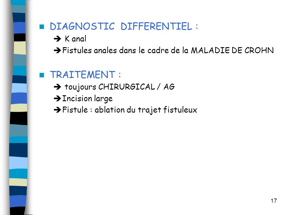 DIAGNOSTIC DIFFERENTIEL :