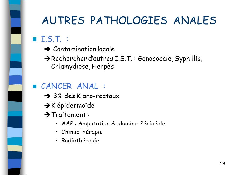 AUTRES PATHOLOGIES ANALES