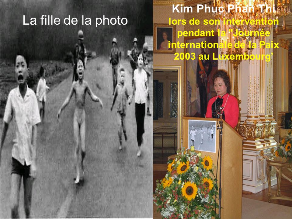 Kim Phuc Phan Thi lors de son intervention pendant la Journée internationale de la Paix 2003 au Luxembourg'