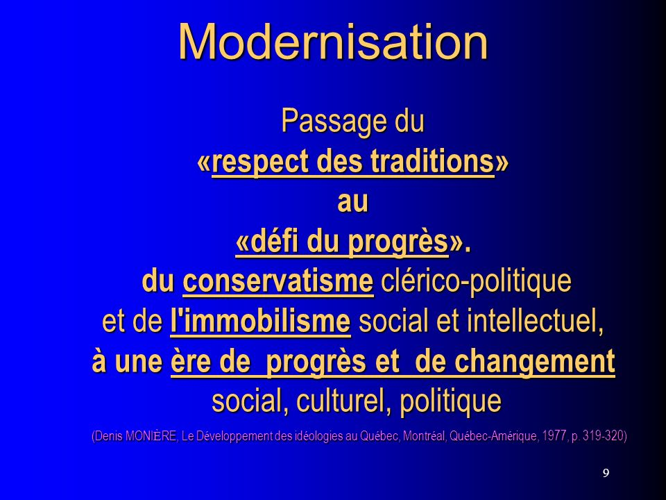 «respect des traditions»