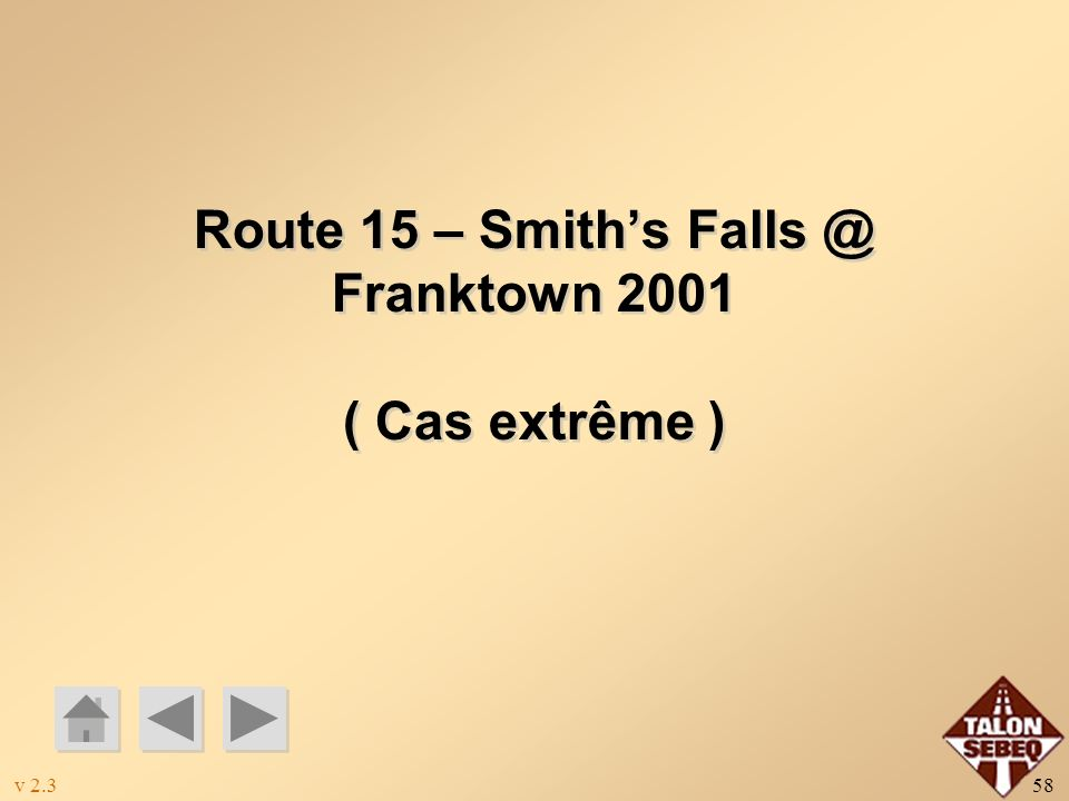 Route 15 – Smith's Falls @ Franktown 2001
