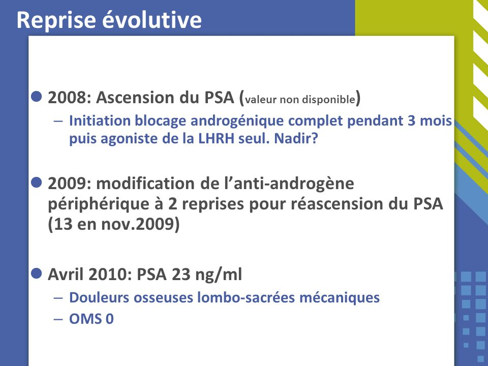 Reprise évolutive 2008: Ascension du PSA (valeur non disponible)