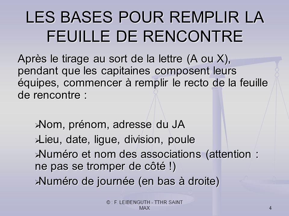LES BASES POUR REMPLIR LA FEUILLE DE RENCONTRE - ppt video online ...