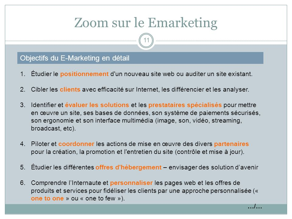 Zoom sur le Emarketing Objectifs du E-Marketing en détail