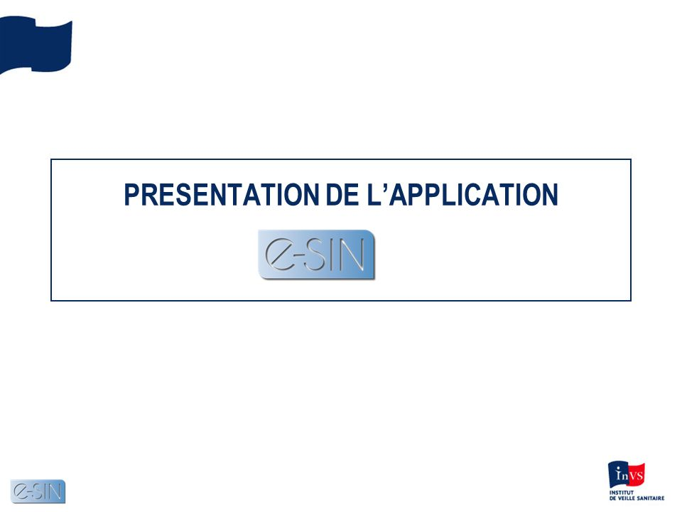 PRESENTATION DE L'APPLICATION