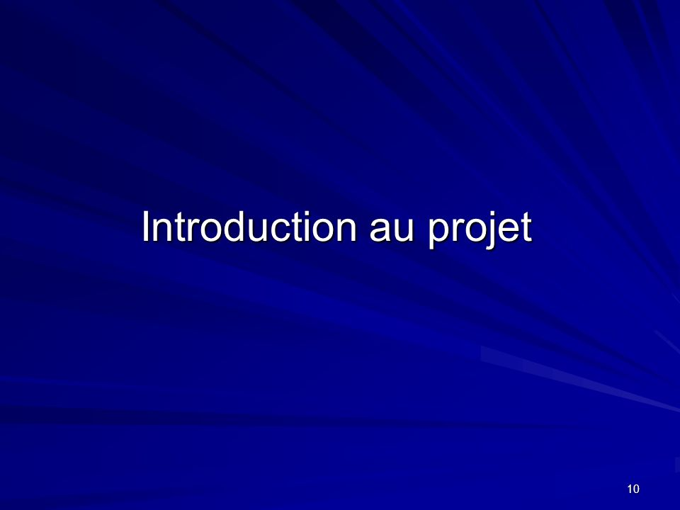 Introduction au projet