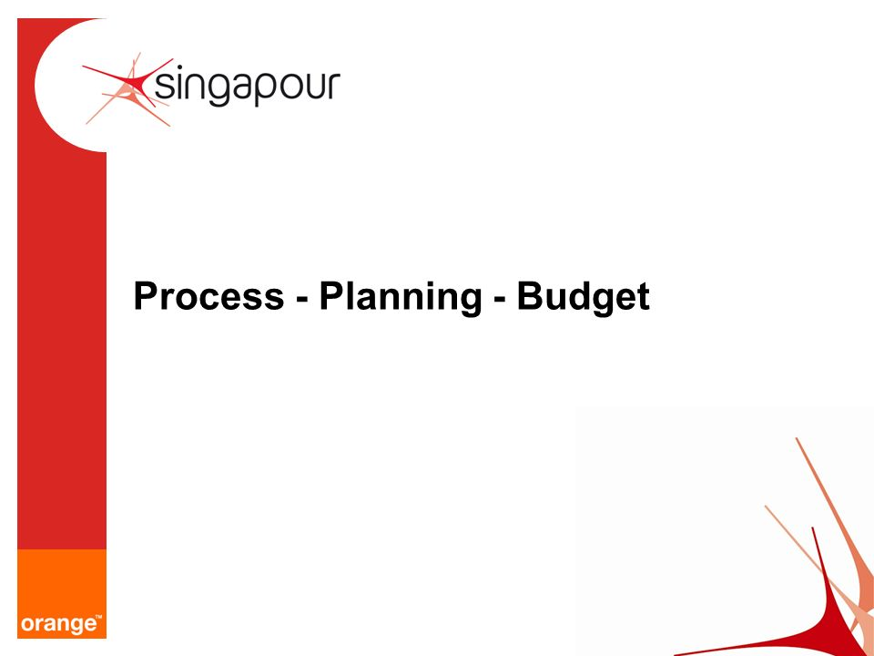 Process - Planning - Budget