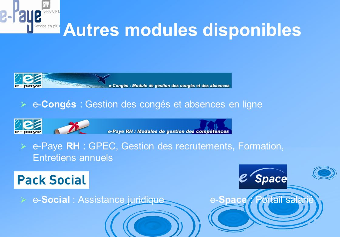 Autres modules disponibles