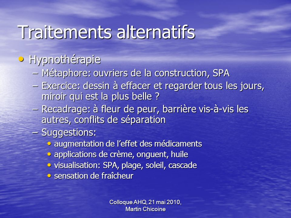 Traitements alternatifs