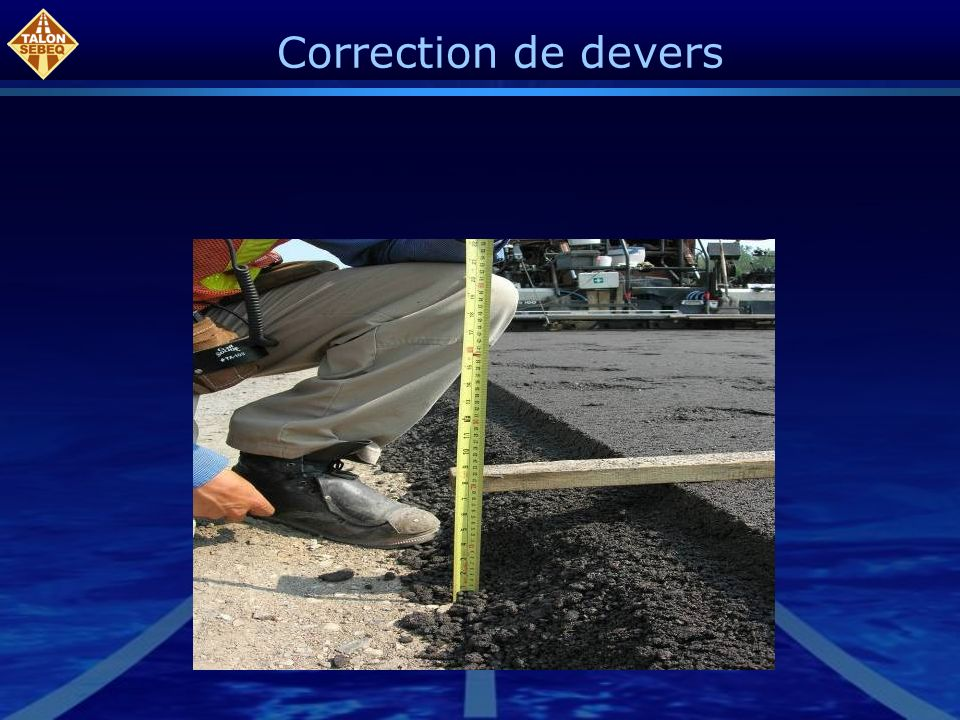 Correction de devers