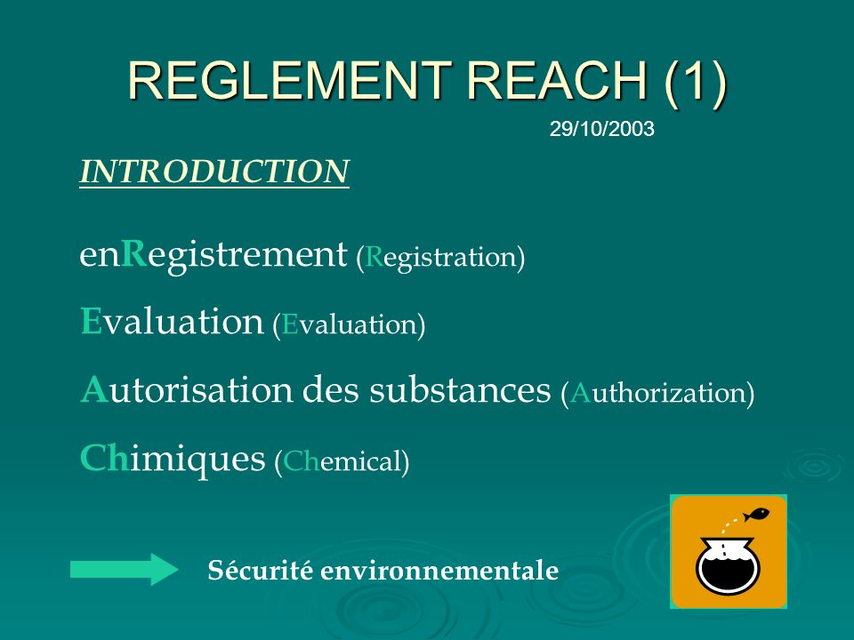 REGLEMENT REACH (1) enRegistrement (Registration)