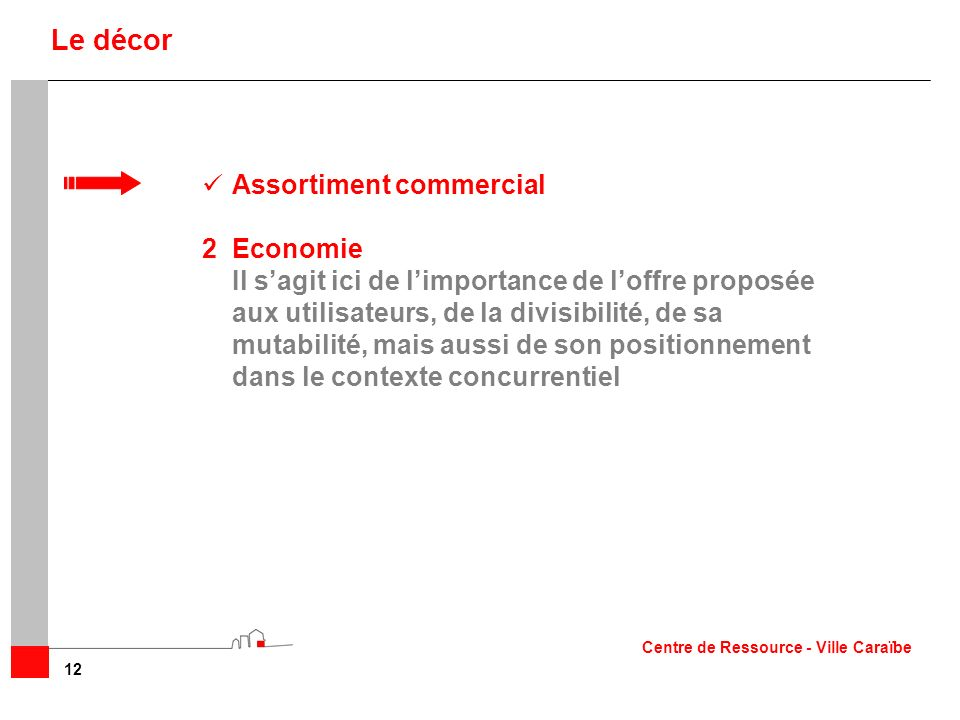 Le décor Assortiment commercial 2 Economie