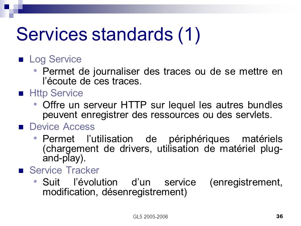 Services standards (1) Log Service