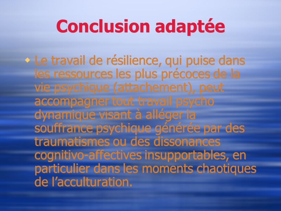 Conclusion adaptée