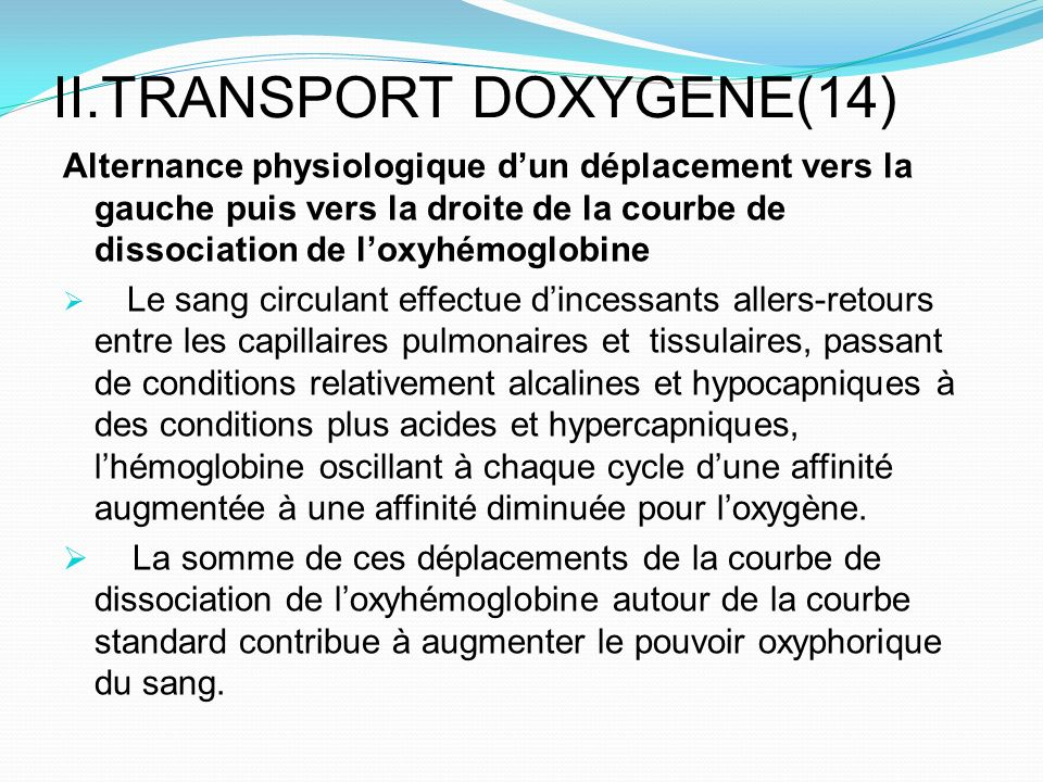 II.TRANSPORT DOXYGENE(14)