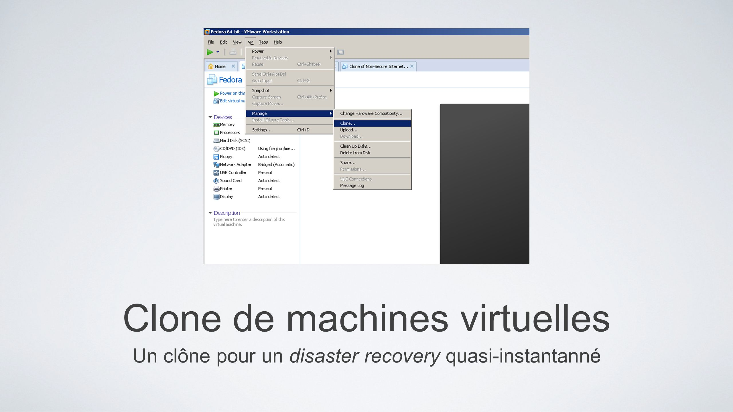 Clone de machines virtuelles