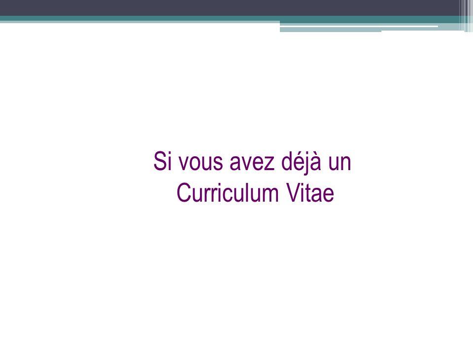 curriculum vitae cv