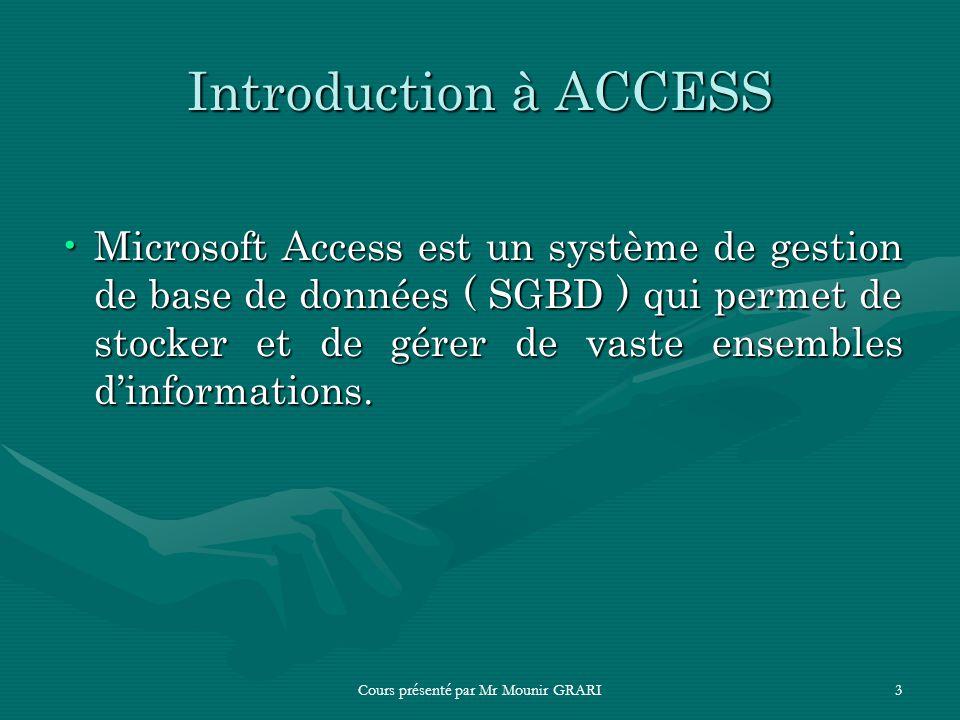 Microsoft Access Gestion De Base De Donnees Ppt Telecharger