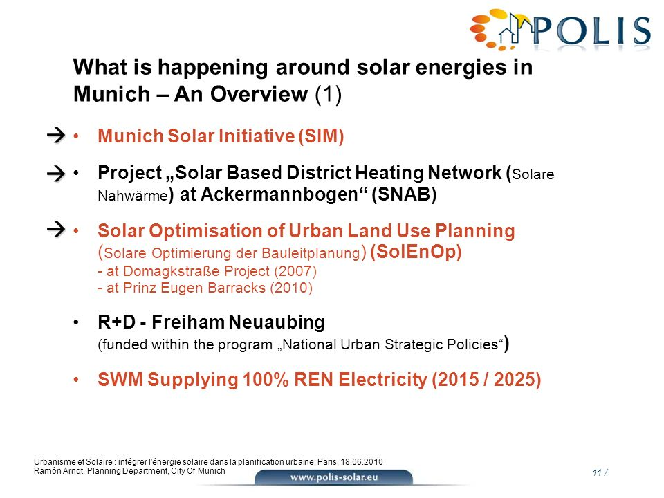 What is happening around solar energies in Munich – An Overview (1)